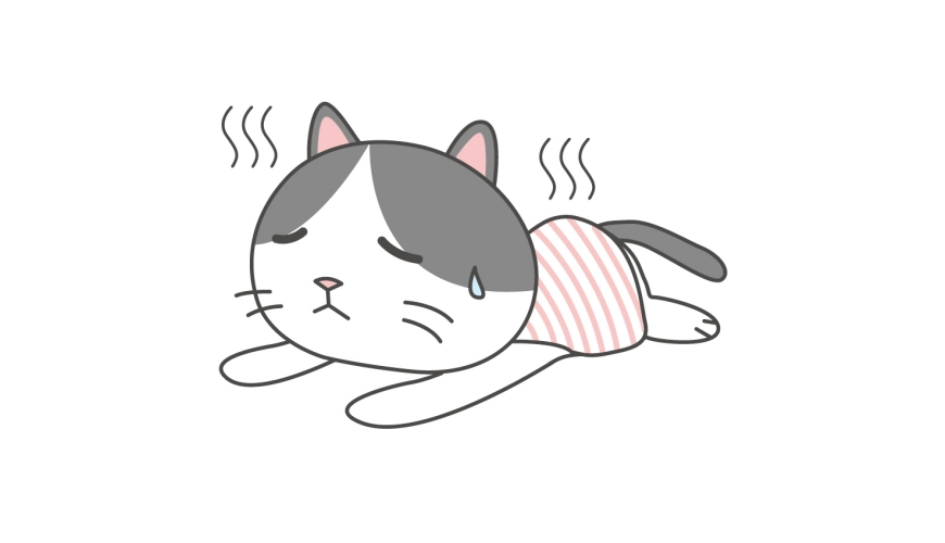 日文「くたばる」的形象圖
