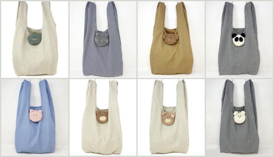 摺疊環保購物袋推薦推介日系動物設計超可愛立體剪裁容量大好收納動物系列