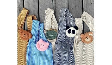 摺疊環保購物袋推薦推介日系動物設計超可愛立體剪裁容量大好收納動物系列可愛的設計