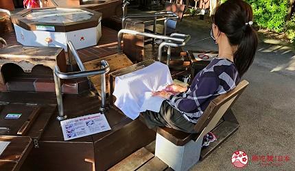 佐賀景點推薦嬉野溫泉湯宿廣場的足蒸湯