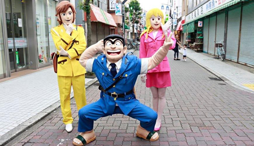 東京老街柴又景點推薦推介下町龜有必去商店街淺草到烏龍派出所散策的阿兩人偶