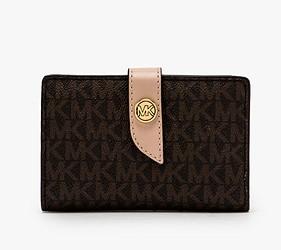 皮夾錢包品牌推薦推介顏色日系甜美小資女送禮必買內心MICHAEL KORS現在很流行的扣式中夾