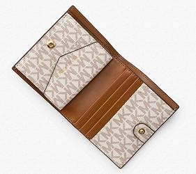 皮夾錢包品牌推薦推介顏色日系甜美小資女送禮必買內心MICHAEL KORS短夾內部的收納功能豐富