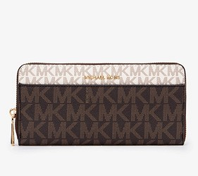 皮夾錢包品牌推薦推介顏色日系甜美小資女送禮必買內心MICHAEL KORS有著logo的長夾很有人氣