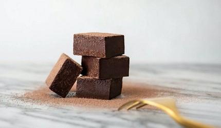 日本四颗「生巧克力」(生チョコレート)示意图