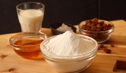 日本「生吐司」(生食パン)原料成分示意图