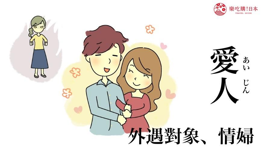 日文「愛人」的中文意思示意圖