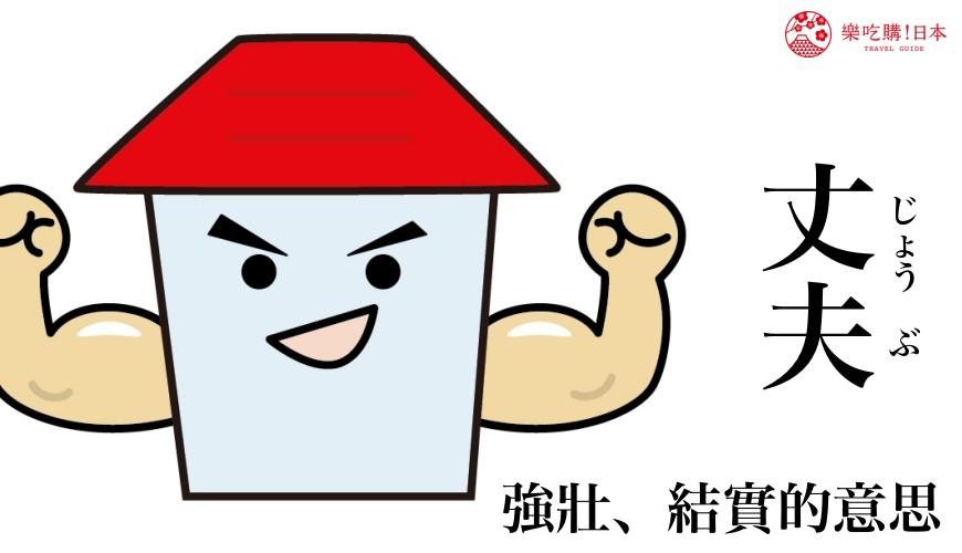 日文「丈夫」的中文意思示意圖