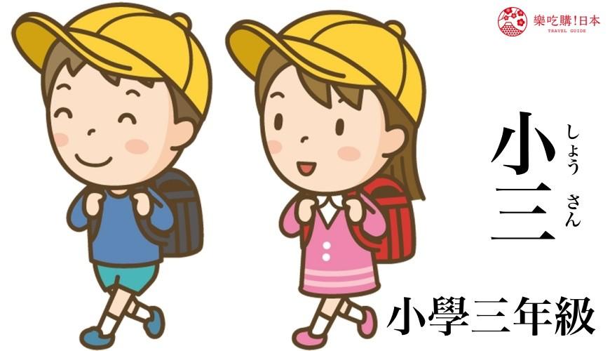 日文「小三」的中文意思示意圖