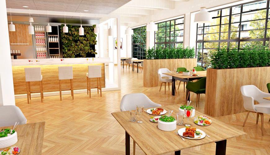 日語「美味しい」(おいしい)(歐伊系)可以用在指一家餐廳氣氛環境很棒的示意圖
