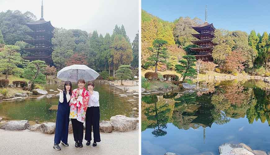 日本絕景美食在岩國市景點欣賞