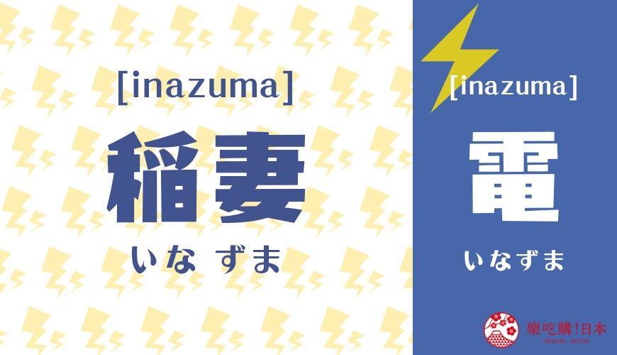 日语「稲妻」中文闪电别名示意图