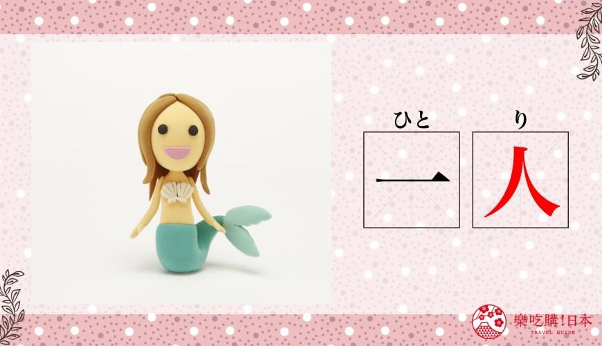 日语数量词人鱼「一人」示意图