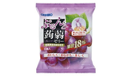 日本零食推薦推介低卡蒟蒻果凍啫喱ORIHIRO果汁蒟蒻果凍