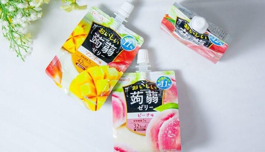 日本零食推薦推介低卡蒟蒻果凍啫喱tarami3包