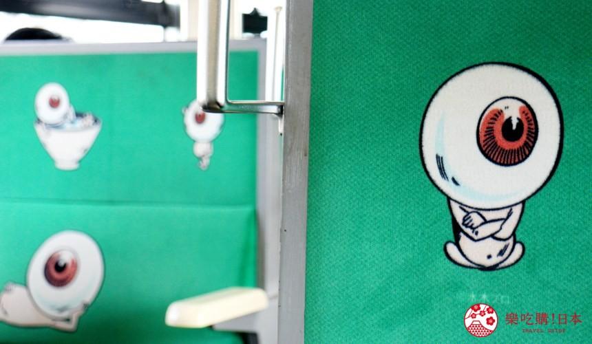 鳥取縣必去景點推薦推介鬼太郎列車大山3天2夜行程3日2夜自由行懶人包水木茂大道鬼太郎列車座位上有鬼太郎作品的可愛插畫