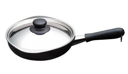 不沾平底鍋推薦日本柳宗理平底鍋柳宗理岩紋單手鐵鍋