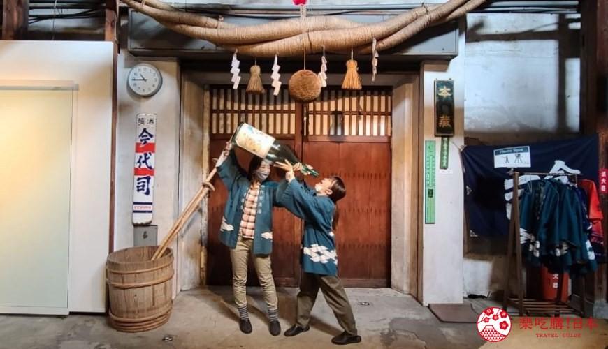新潟旅行冬天自由行程景點推薦推介的今代司酒藏酒造拍照景點