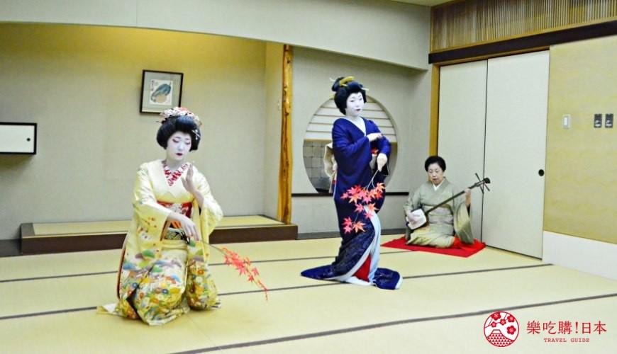 新潟旅行冬天自由行程景點推薦推介的藝伎歌舞表現中