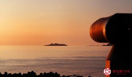 長崎軍艦島自由行自駕遊roadtrip公路旅行必去景點推薦推介必吃必食美食絕景打卡攻略能量地點夫婦岩設置的望遠鏡望向軍艦島