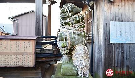 新潟旅行冬天自由行程景點推薦推介的金刀比羅神社狛犬