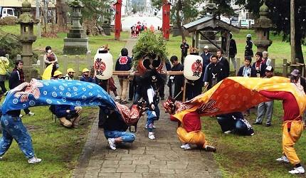 新潟旅行冬天自由行程景點推薦推介的鬼太鼓體驗