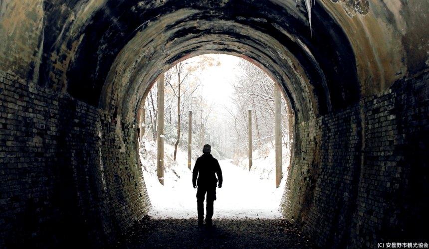 長野自由行松本安曇野景點篠之井線廢線遊步道冬天雪景