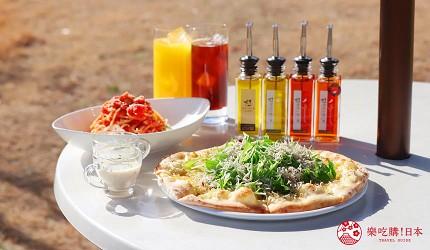 廣島景點推薦江田島市橄欖工廠的餐點披薩及義大利麵