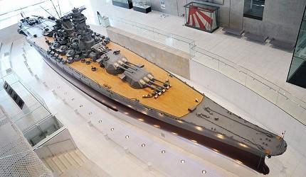 廣島吳市景點推薦大和博物館戰艦大和號模型