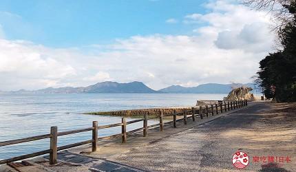 廣島竹原市景點推薦大久野島兔子島上的海景