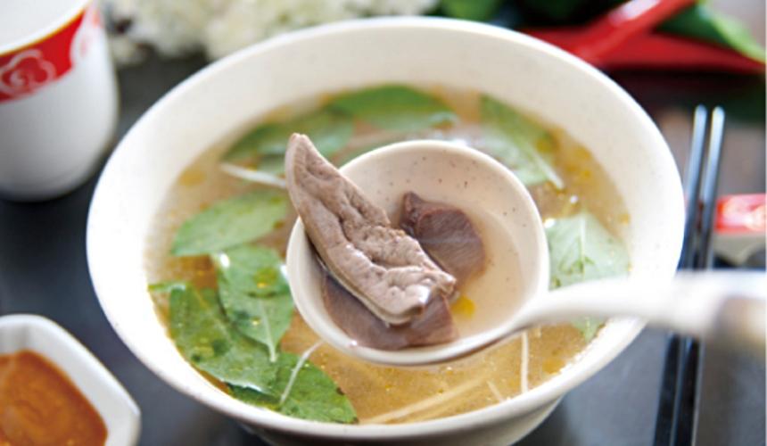台灣料理米其林必比登推薦下水湯(モツのスープ)示意圖