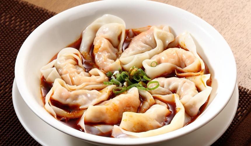 台灣料理米其林必比登推薦鼎泰豐紅油抄手(ピリ辛ゆでワンタン)示意圖