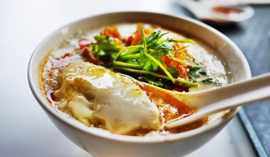 台灣料理米其林必比登推薦「鹹豆漿」(豆乳スープ)示意圖