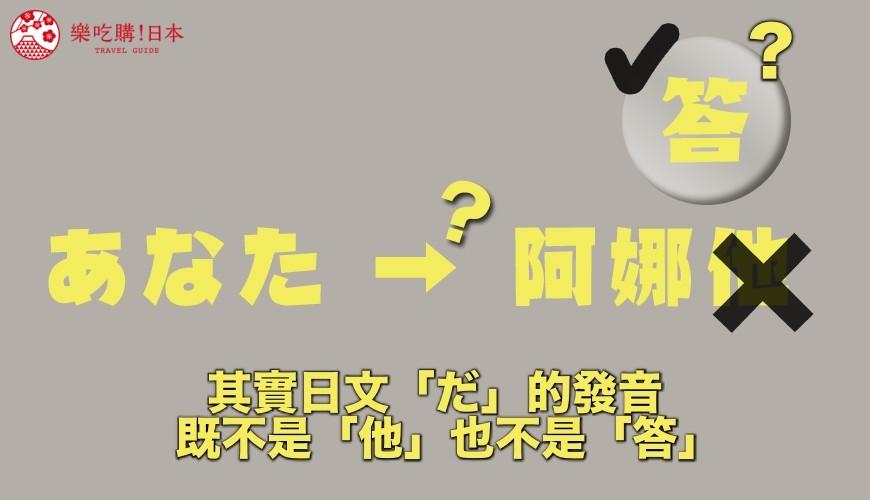 あなた的中文發音示意圖