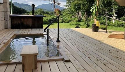 日本岡山鐘乳石洞秘境去新見神鄉溫泉翠綠園林中的檜木露天溫泉
