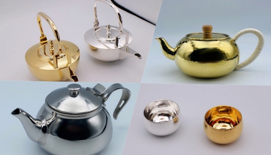 燕三條必買推薦推介鍍金鍍銀酒杯茶壺日本酒銅茶壺不鏽鋼茶壺