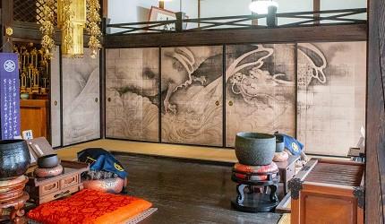 靜岡自由行景點推薦濱松市國家指定文化財龍潭寺的屏風龍的襖繪