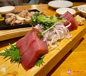 靜岡自由行美食濱松餃子濱松たんと本店鰹魚生魚片