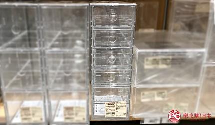 收納盒推薦透明收納架推介無印良品muji抽屜收納用品可縱橫擺放壓克力小物收納盒