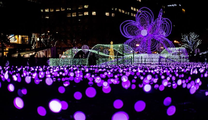 北海道自由行冬天推荐玩法6个札幌近郊景点推荐札幌白色灯饰节浪漫点灯活动大通公园