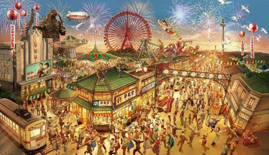 哥吉拉哥斯拉遊樂設施所在樂園設計圖