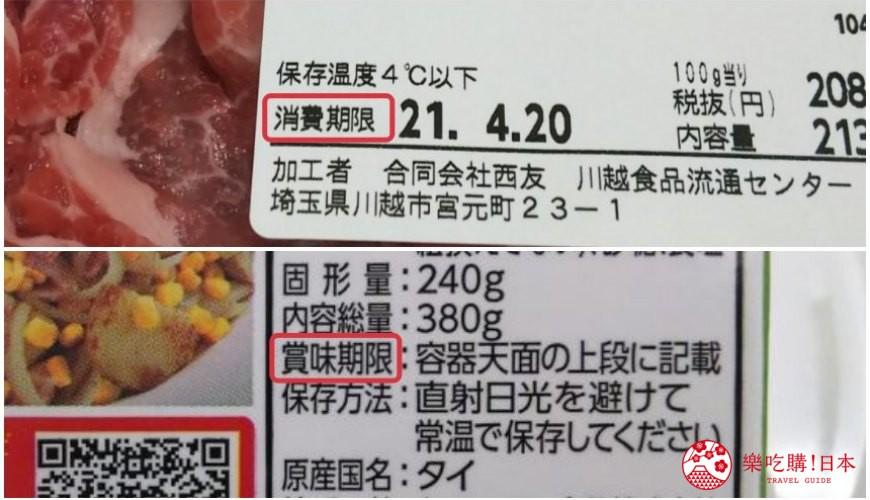 食物標籤營養標籤日本預先包裝進口食物安全標籤法規日文香港台灣賞味期限消費期限比較