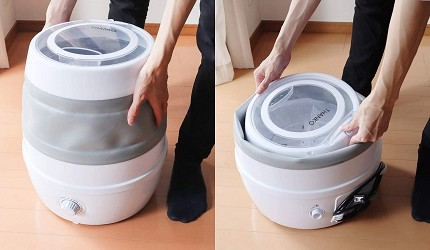 洗衣機品牌推薦牌子推介評價變頻滾筒迷你折疊直立分別比較日本折疊洗衣機便攜式洗衣機收納前後