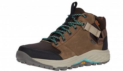 登山鞋推薦行山鞋推介好看好穿爬山安全防滑GORETEX防水TEVA  Grandview GTX 高筒防水黃金大底郊山鞋