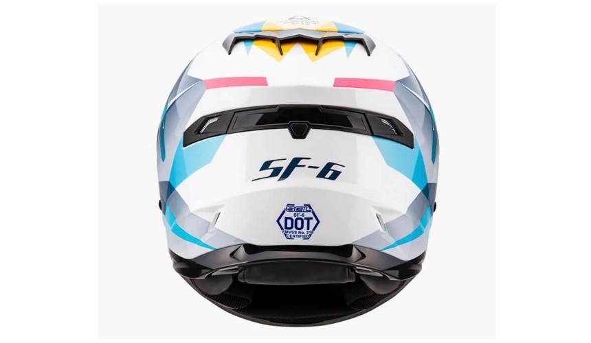 推薦10大摩托車機車安全帽品牌台灣國產SOL全罩式SF-6獨角獸彩繪拼貼花樣男女都適用
