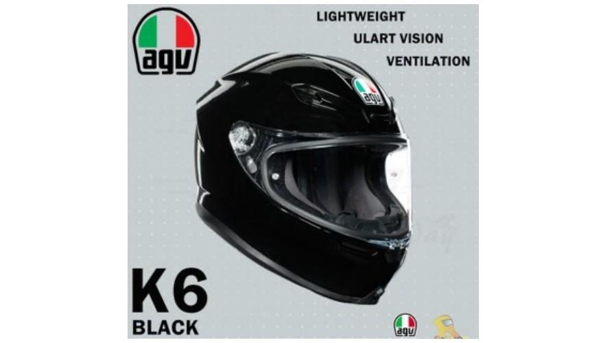推薦10大摩托車機車安全帽品牌義大利品牌AGV全罩式K6F1賽車選手愛用款