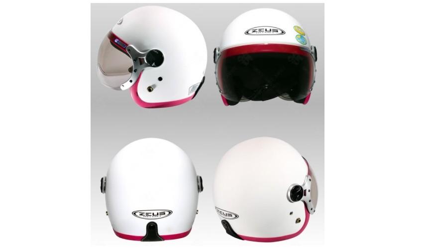 推薦10大摩托車機車安全帽品牌台灣國產ZEUS瑞獅ZS-383A 四分之三式復古款時尚女性適合
