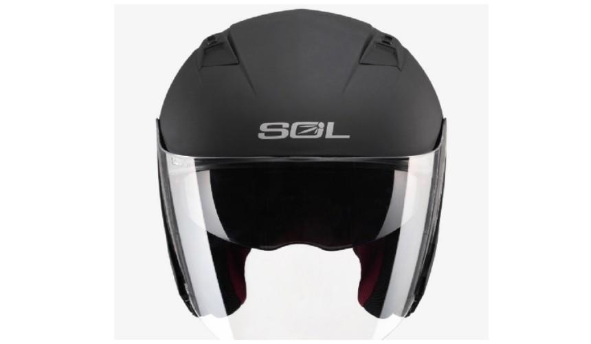 推薦10大摩托車機車安全帽品牌台灣國產SOL四分之三式SO-7內建抗UV墨鏡遮陽方便
