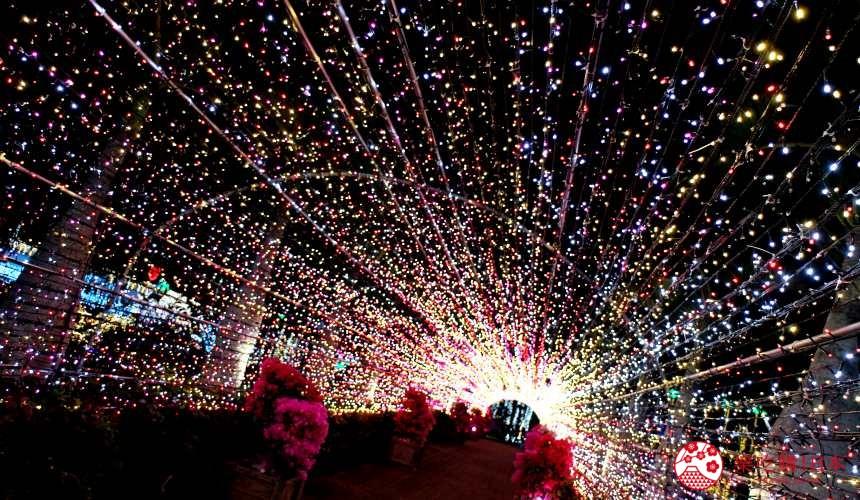 沖繩中部自駕沖繩市景點東南植物樂園冬季點燈燈飾