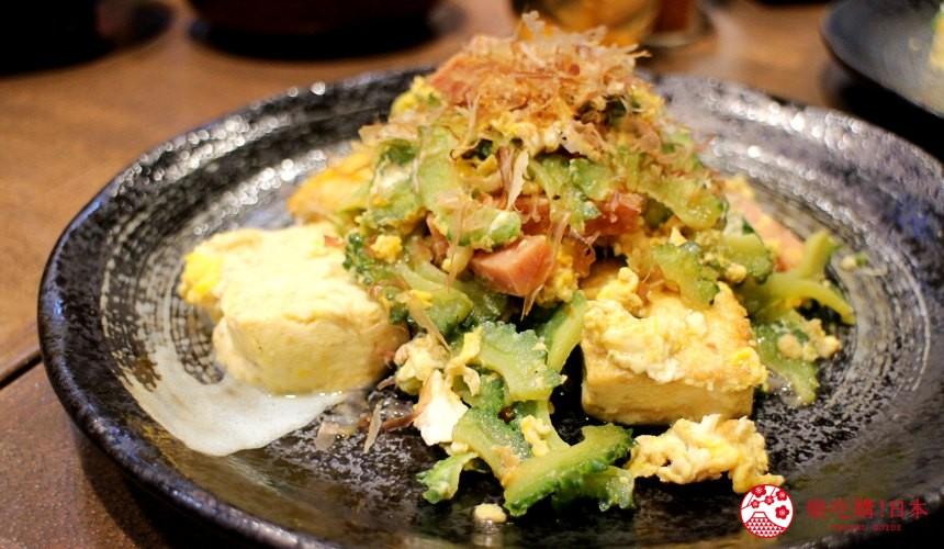 沖繩必吃美食苦瓜炒豆腐炒蛋